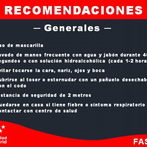 Recomendaciones - Generales
