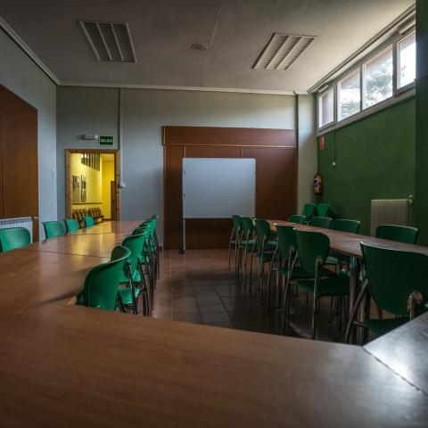 Sala de trabajo Albergue Juvenil Villa Castora