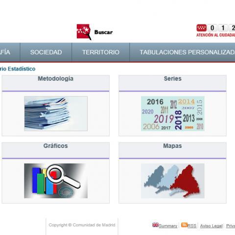 Home de la web la Comunidad de Madrid en Cifras