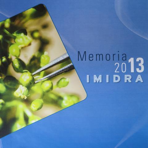 Portada de la Memoria IMIDRA 2013