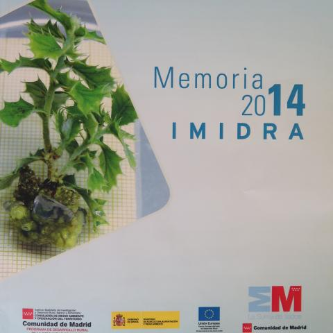 Portada de la Memoria IMIDRA 2014