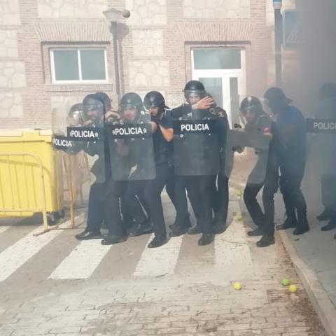 Policías locales en prácticas de intervención