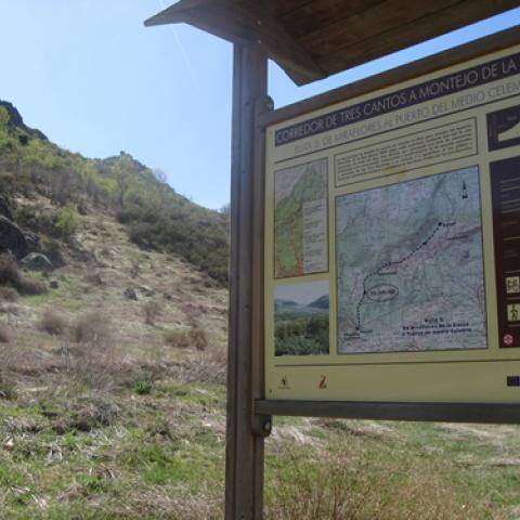 Cartel inicio de ruta de Vías Pecuarias