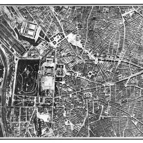 Centro de Madrid. Fotoplano de 1929