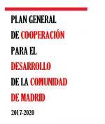 Plan General de Cooperación al Desarrollo 2017-2020